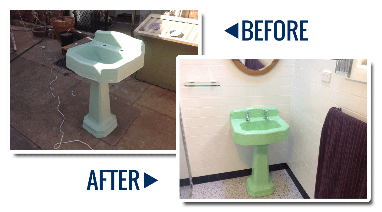 Resurfacing bathrooms - sink resurfacing
